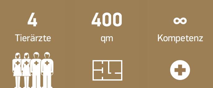 4 Tierärzte, 400 Quadratmeter, höchste Kompetenz